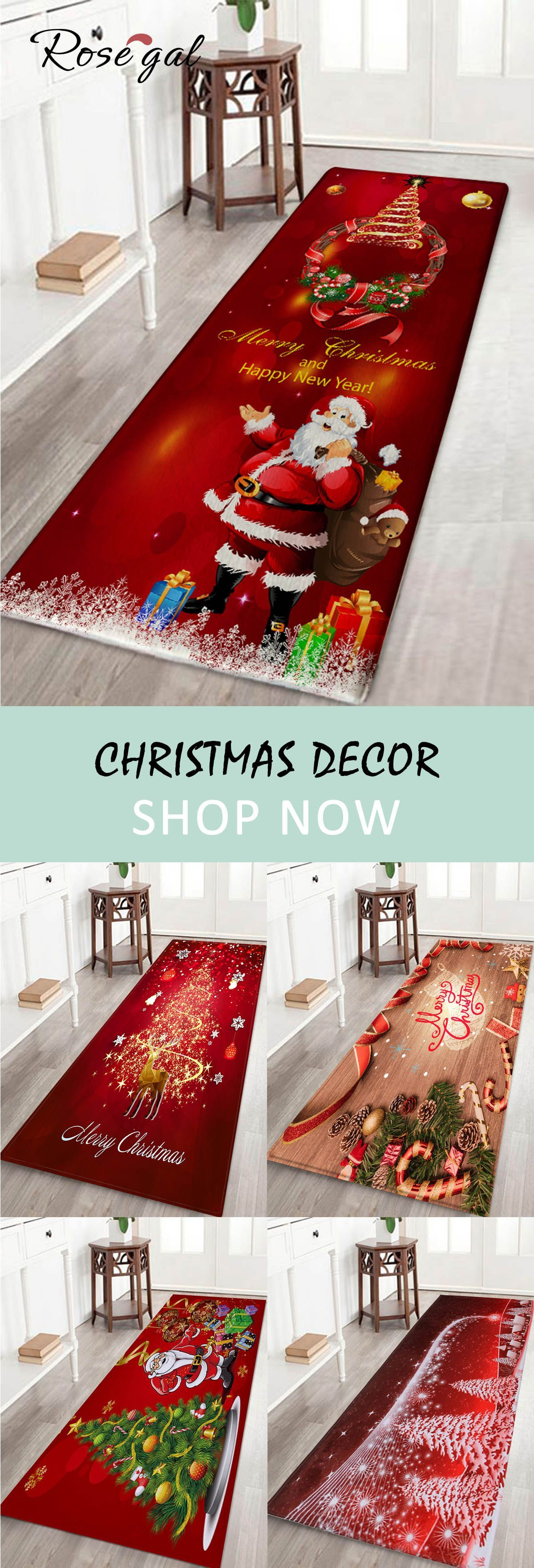Up To 80 Off Rosegal Christmas Home Decor Floor Decoration Holiday Style Shower Mats Entrance Mats Bathroom Rugs Christmas Rugs Christmas Home Christmas Deco