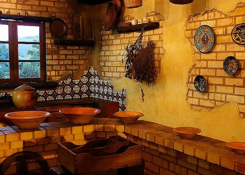 Hacienda Style Kitchens Like This One Are Typical Of The