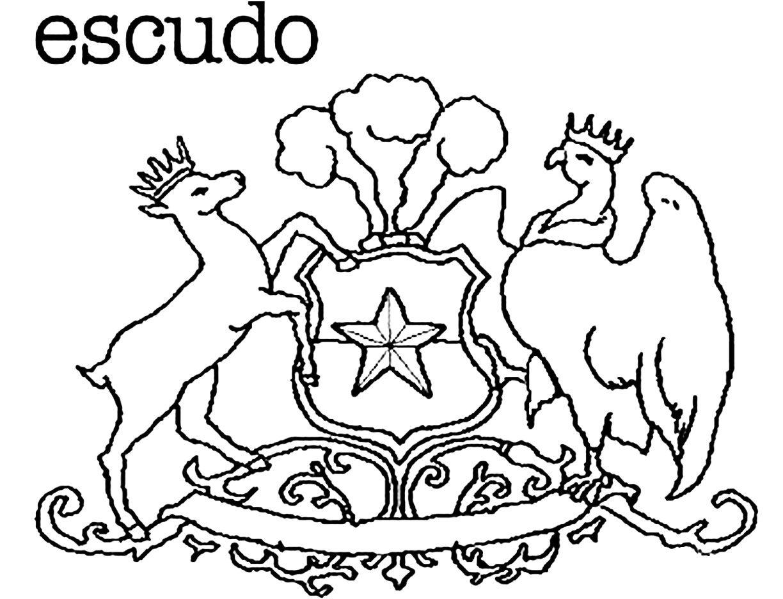 Escudo Bandera De Chile Dibujos Dibujos Kawaii
