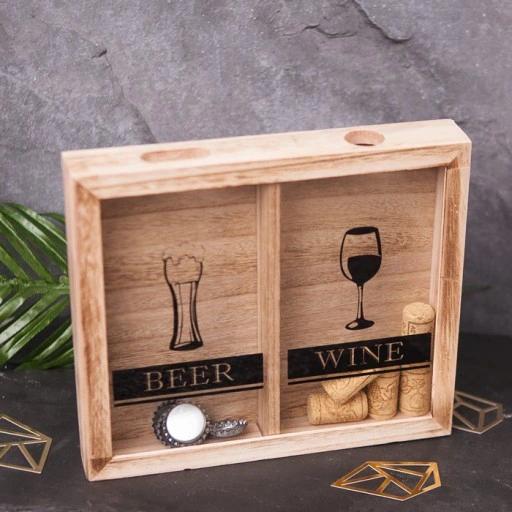 Ramka Na Kapsle Korki Prezent Dla Mlodej Pary Liquor Cabinet Decor Storage