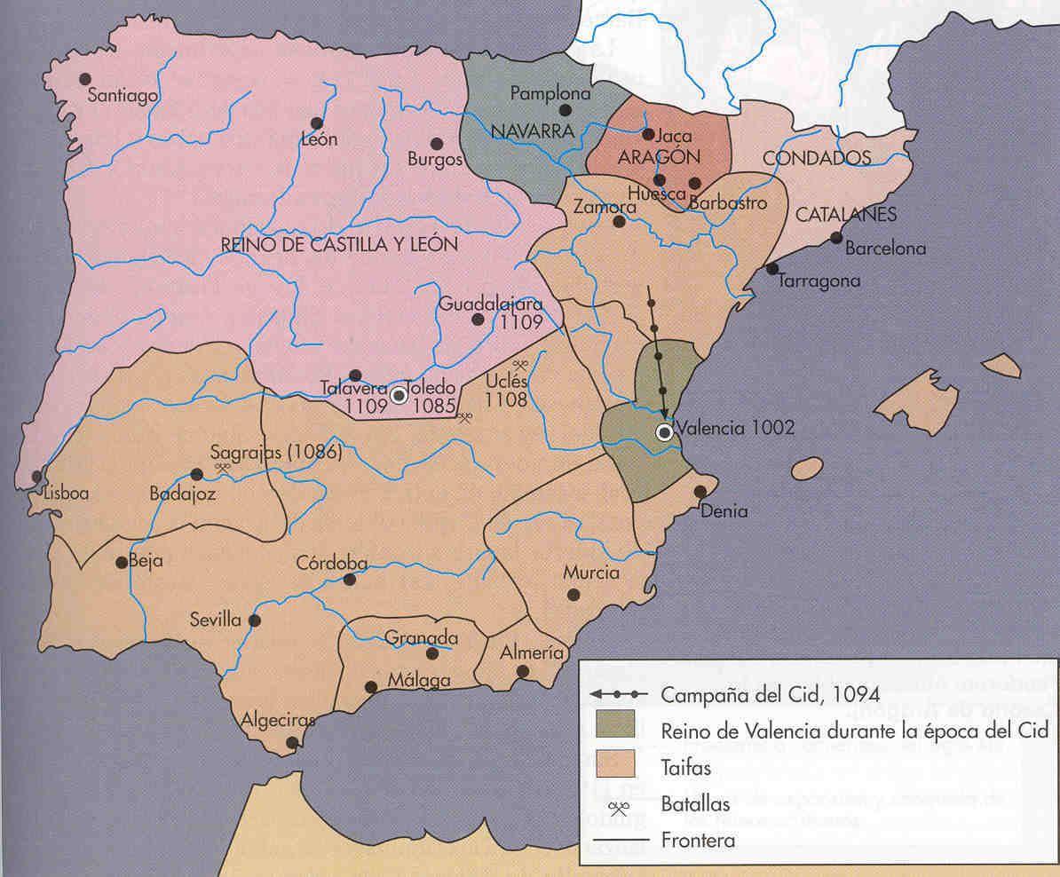 """La """"Reconquista"""" en el siglo XII"""