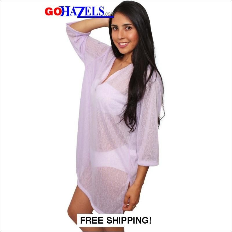 1c2e01c049 Chiffon Long Sleeve Beach Cover Up Dress Made in the USA