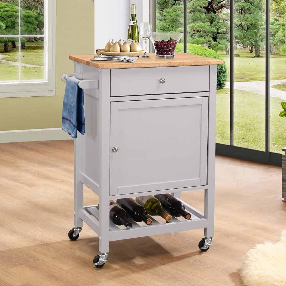 Acme Furniture Hoogzen Portable Kitchen Cart 98300 Kitchen Cart Kitchen Island Cart Portable Kitchen Island
