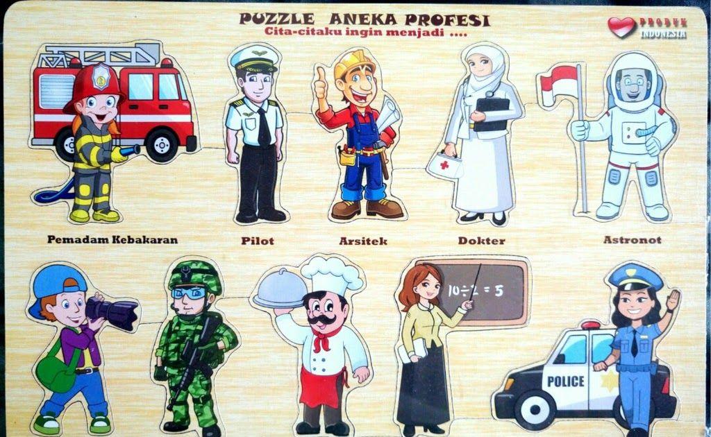33 Gambar Kartun Macam Profesi Puzzle Edukasi Tema Transportasi Hewan Buah Profesi Binatang Bendera Sholat Fuzzel Montessori Dow Di 2020 Kartun Film Animasi Gambar