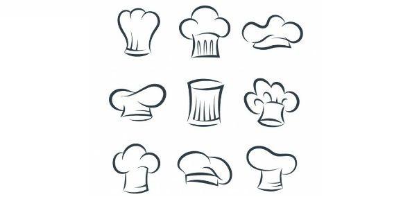 Dibujos de los distintos gorros de cocinero | Gorros de ...