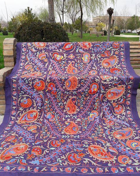 An otstanding fabulous Uzbek suzani handmade.Bedspread
