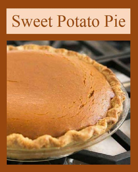 Southern Sweet Potato Pie, Old Fashioned Recipe. A