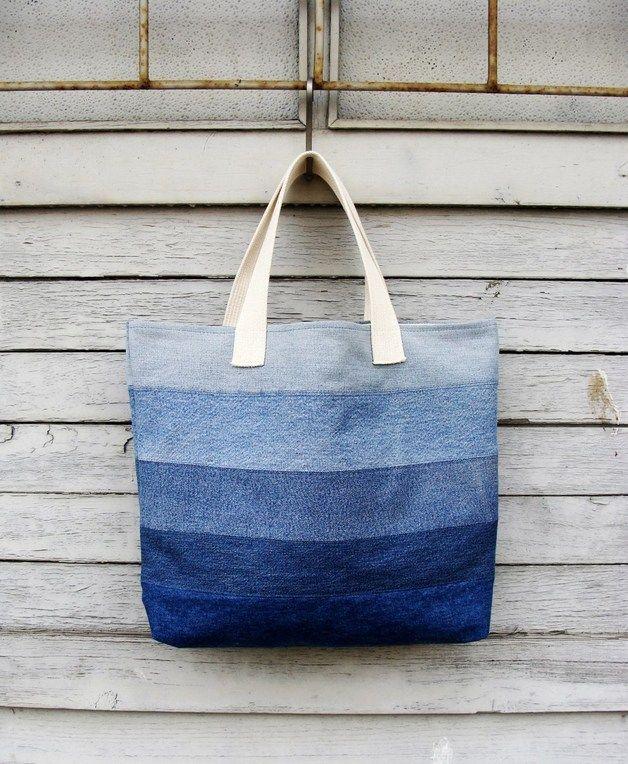 Denim Bag #1 - Nudakillers - Torby na ramię #woman, #bag, #tote, #shopper, #denim, #handmade, #recycling, #nudakillers, #denimlove, #summerbags, #denimbags