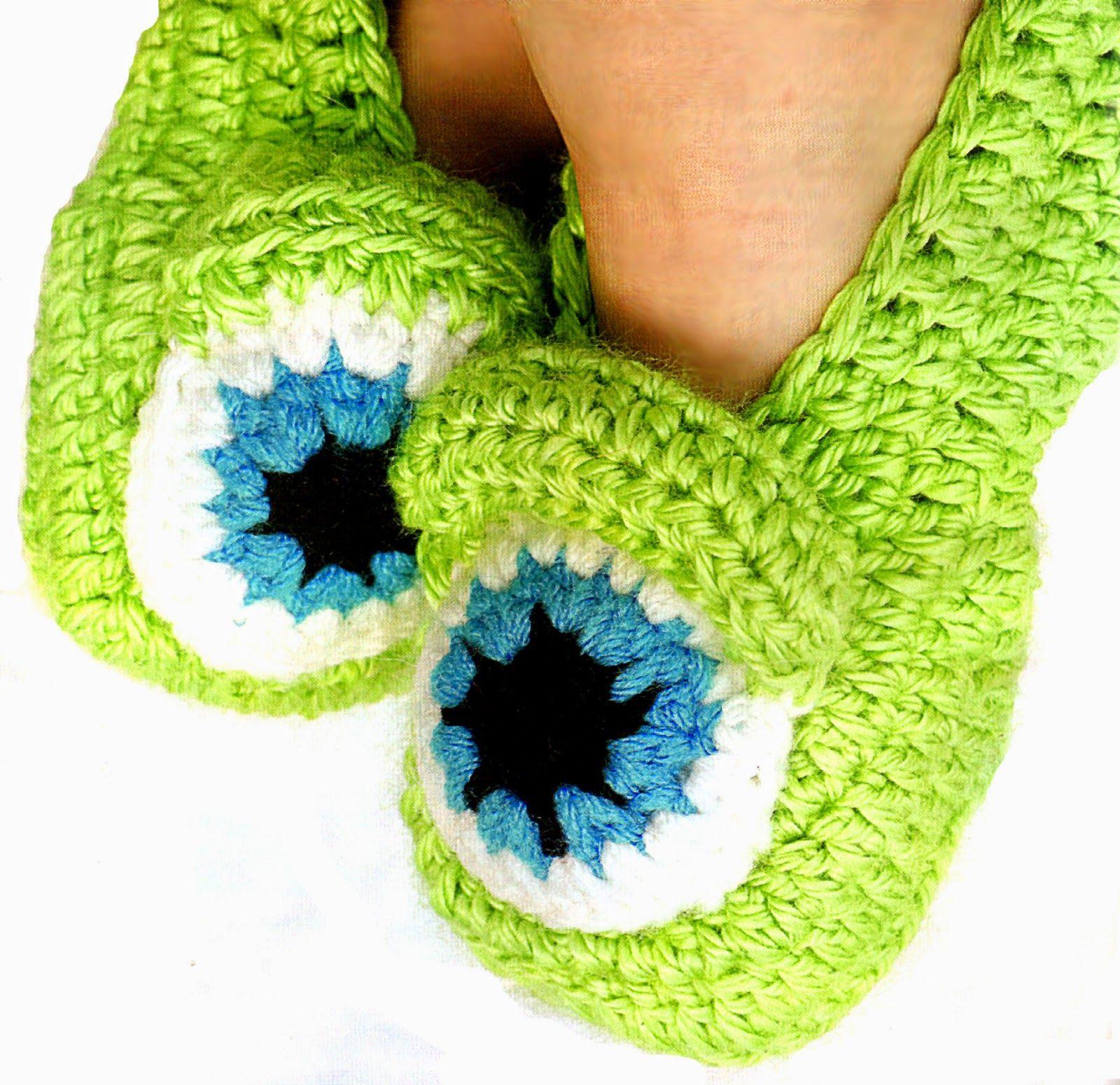 tejidos artesanales en crochet: zapatitos tejidos en crochet (modelo ...