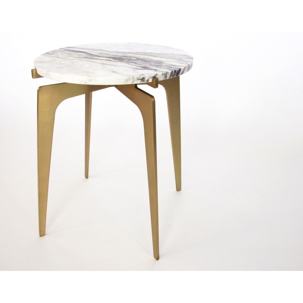 Prong Side Table Brass Side Table Metal Furniture Design Furniture Side Tables