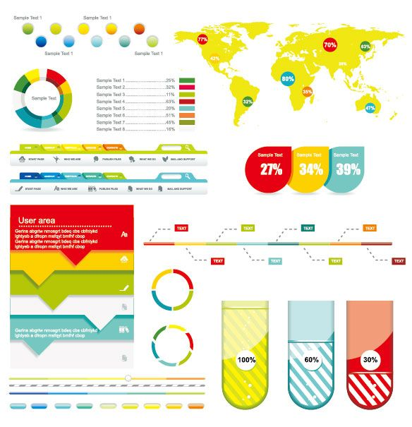 Infographic Vector Kits And Resources  Infographics Design
