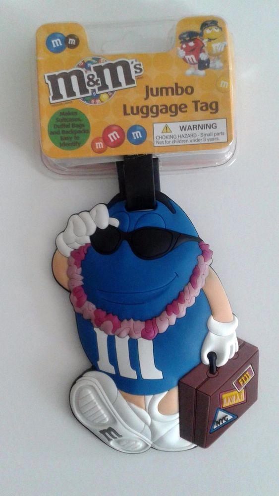 2abf20ec965b M&M's Blue Hawaiian Jumbo Luggage Travel ID Tag Suitcases Duffel ...