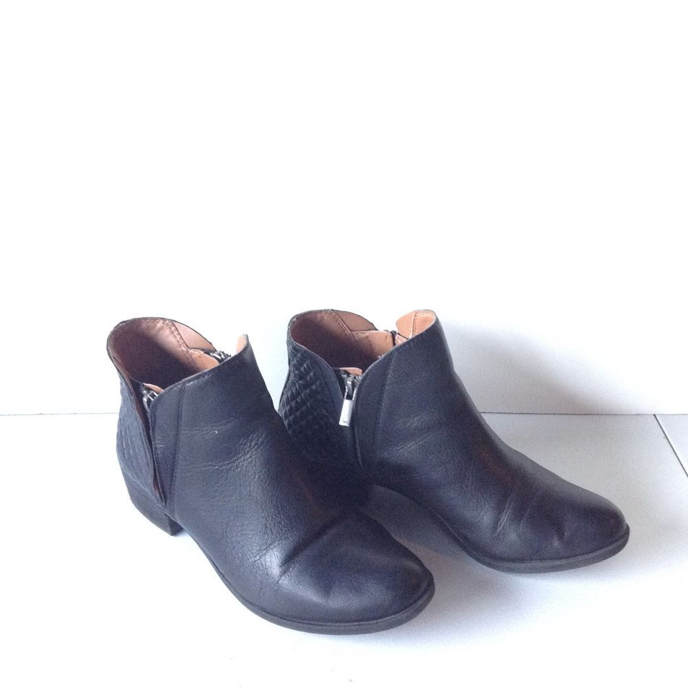 82fe799963b Lucky Brand Black Leather ankle boots in a size 8 #fashion #clothing ...