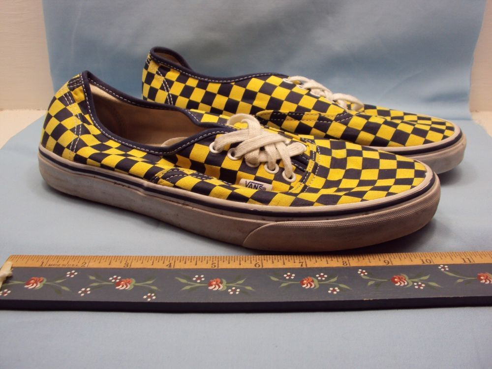 f10918e925260c Vans Off The Wall Canvas Yellow Black Checkerboard Mens Skateboarding Shoes  11.5  VANS  Skateboarding