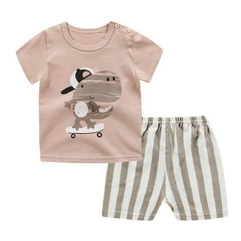 c5ecbba45 2018 Boys Clothing Sets Summer Baby Boys Girl Clothes Suit Shirt + ...