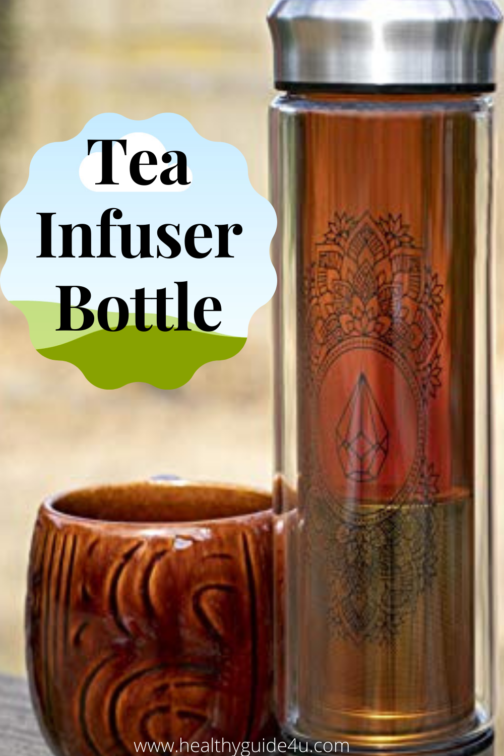 Photo of Portable Glass Tea Infuser bottle