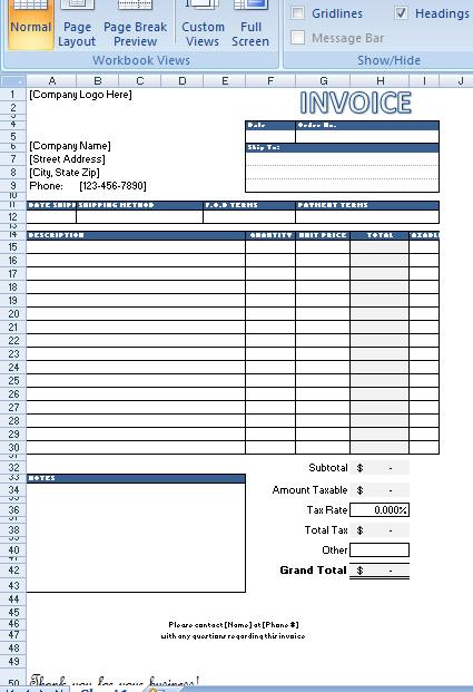 Free Generic Invoice Templates Invoice Templates Invoice Template Certificate Templates Templates