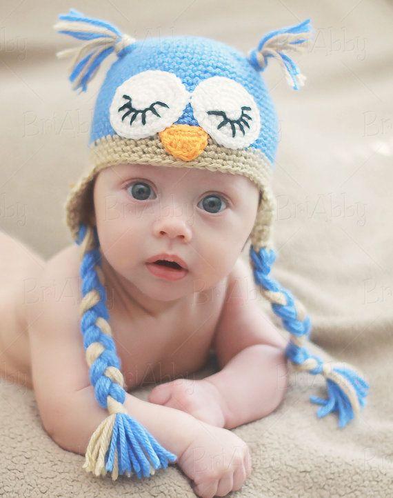 Sleeping Owl Crochet Hat Pattern PDF FILE | bebes | Pinterest ...