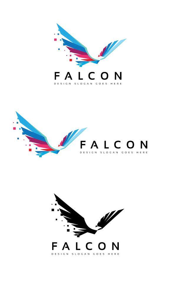 Falcon Digital Logo by goodigital on @creativemarket