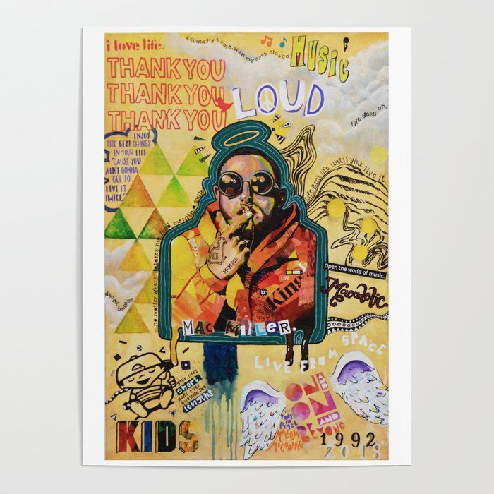 """Mac Miller Live from Space poster wall art home decor photo print 24x24/"""" inches"""