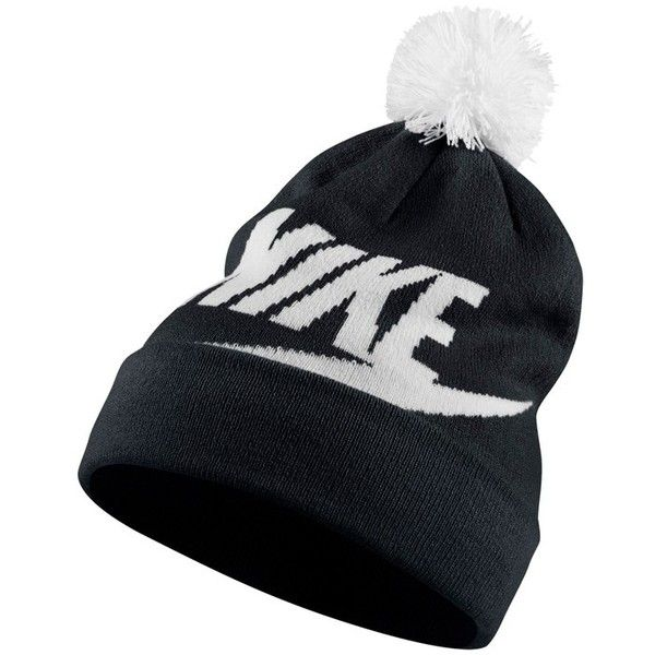 504e101dcf1 Women s Nike Sportswear Women s Beanie With Removable Pom (440.415 IDR) ❤  liked on Polyvore featuring accessories