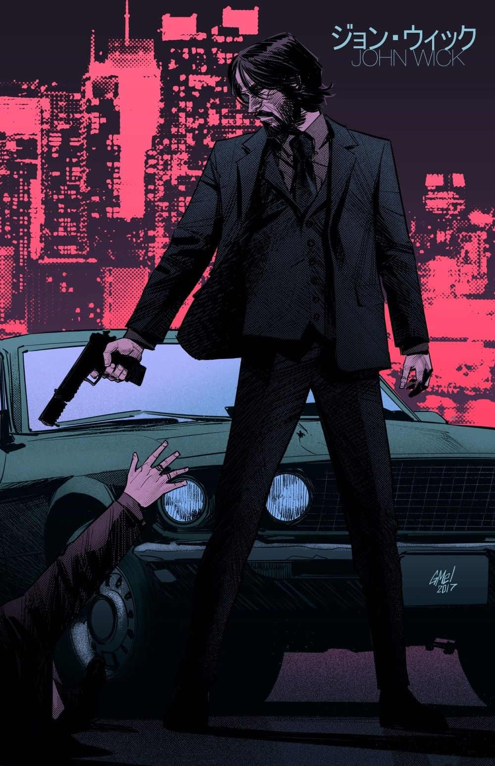 John Wick, Gleb Melnikov on ArtStation at https//www