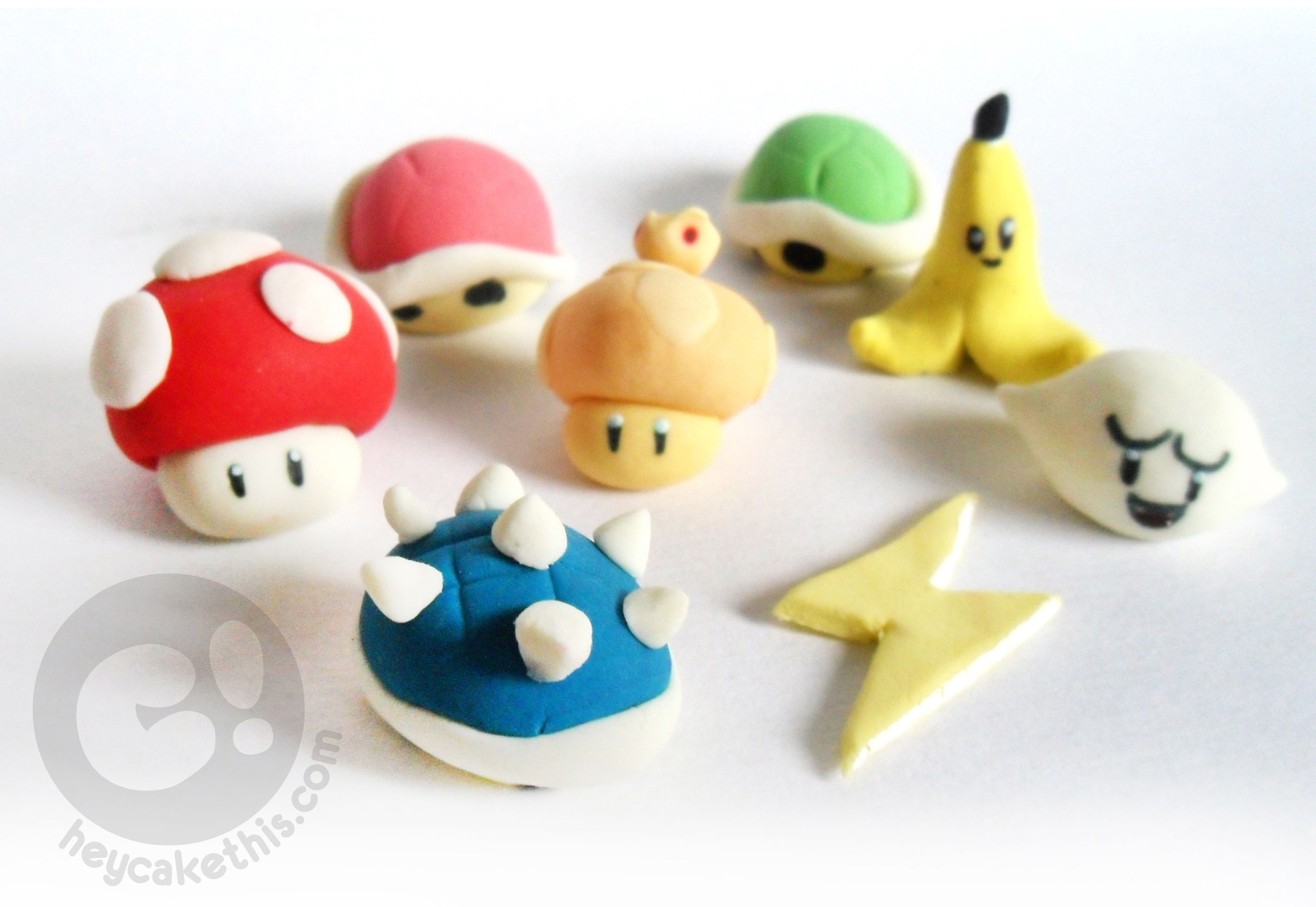Mario Kart Themed Fondant Toppers For A Video Game Launch