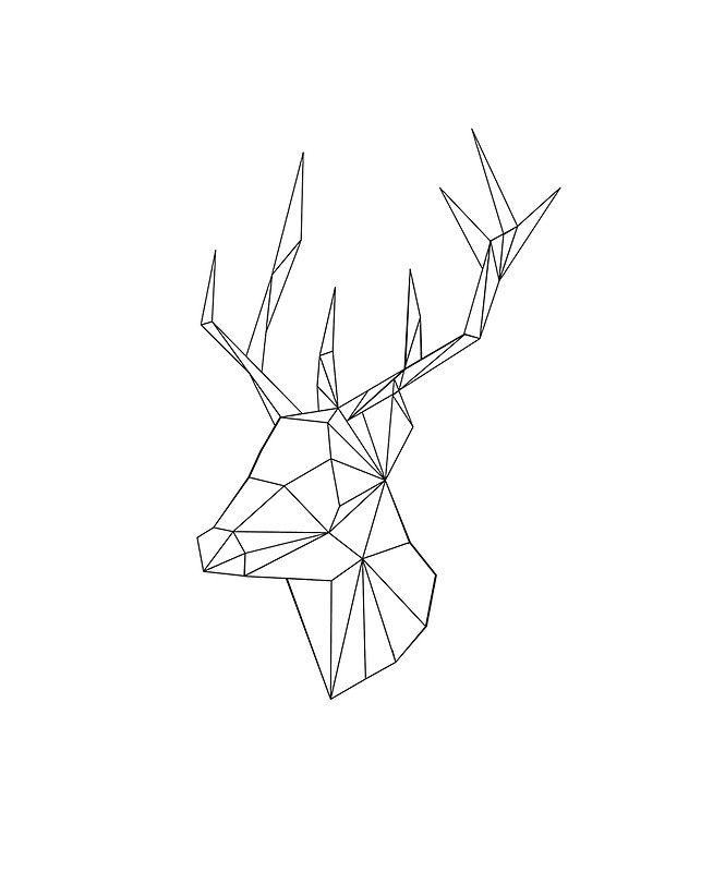 Geometric reindeer do it yourself pinterest tattoo drawings journal gumiabroncs Gallery