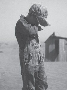 Dust Pneumonia claimed the lives of many people who lived in the Dust Bowl, plus livestock and chickens.  Lungs filled with sand cannot breathe.