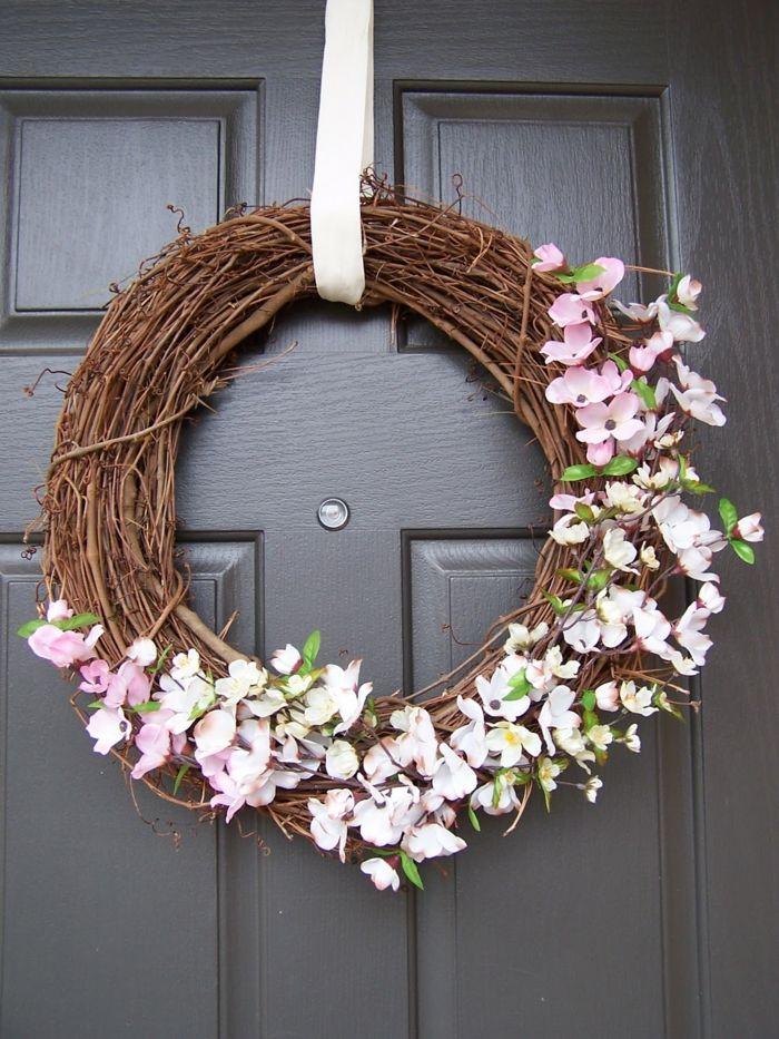 Guirnaldas navide as corona de navidad de ramas secas y for Guirnaldas para puertas navidenas