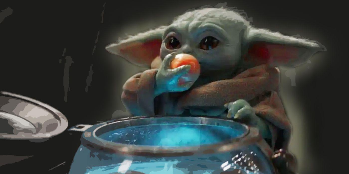 The Mandalorian Fixes Baby Yoda Eating Frog Lady S Eggs In 2021 Star Wars Fan Art Star Wars Art Star Wars Fandom