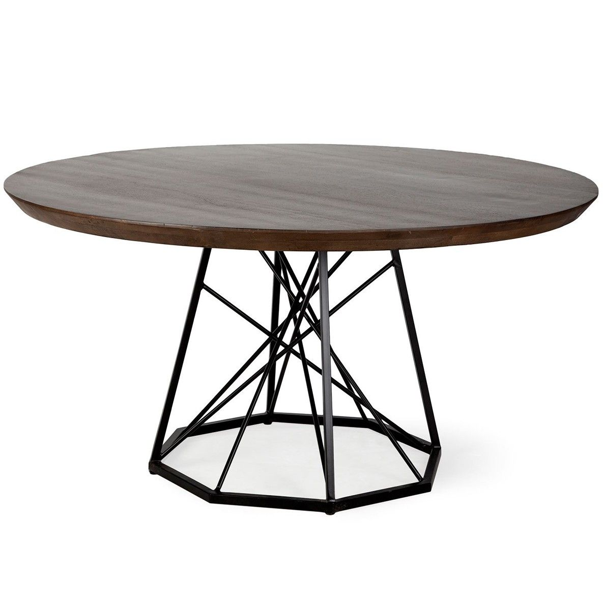 Rustic Round Metal Cris Cross Base Table Metal Base Dining Table Kitchen Table Metal Industrial Dining Table Round