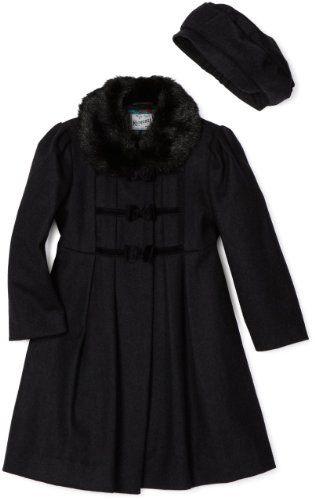 1163919ce42d6 Rothschild Girls 2-6X Toddler Coat with Velvet Bows  Amazon.com  Clothing