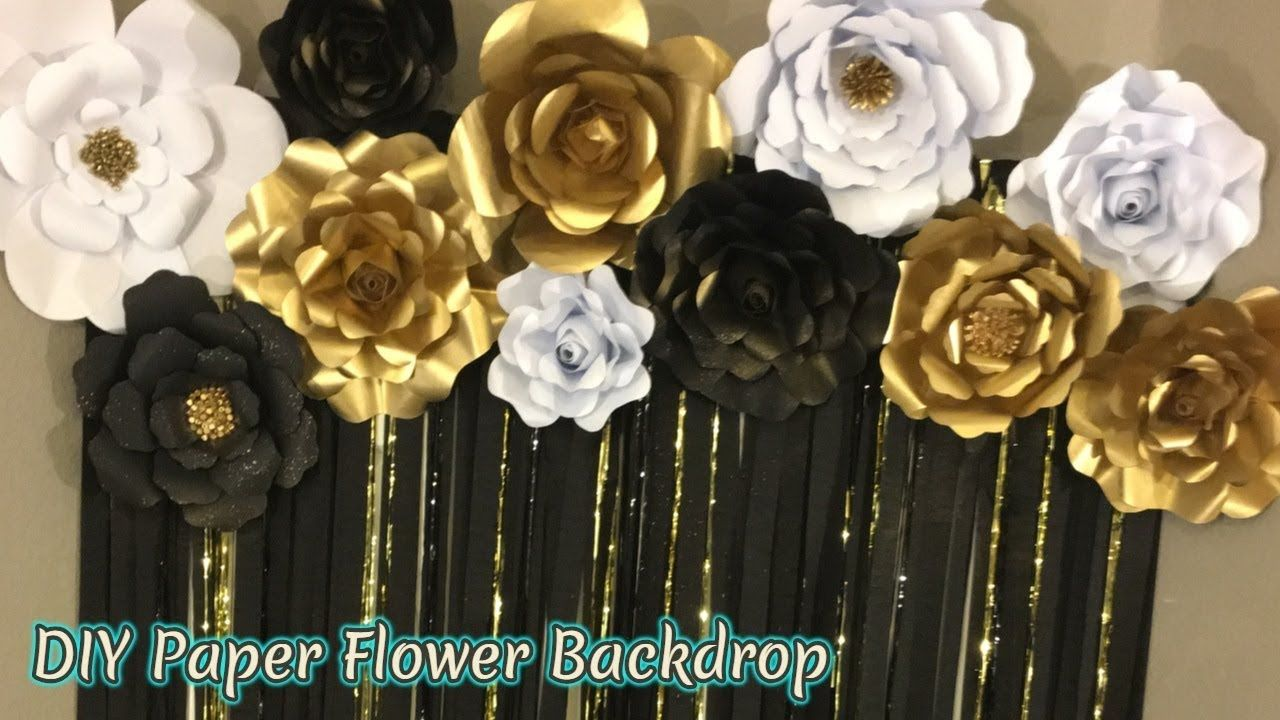 Diy 3 Paper Flower Tutorials Free Download Templates Masquerade