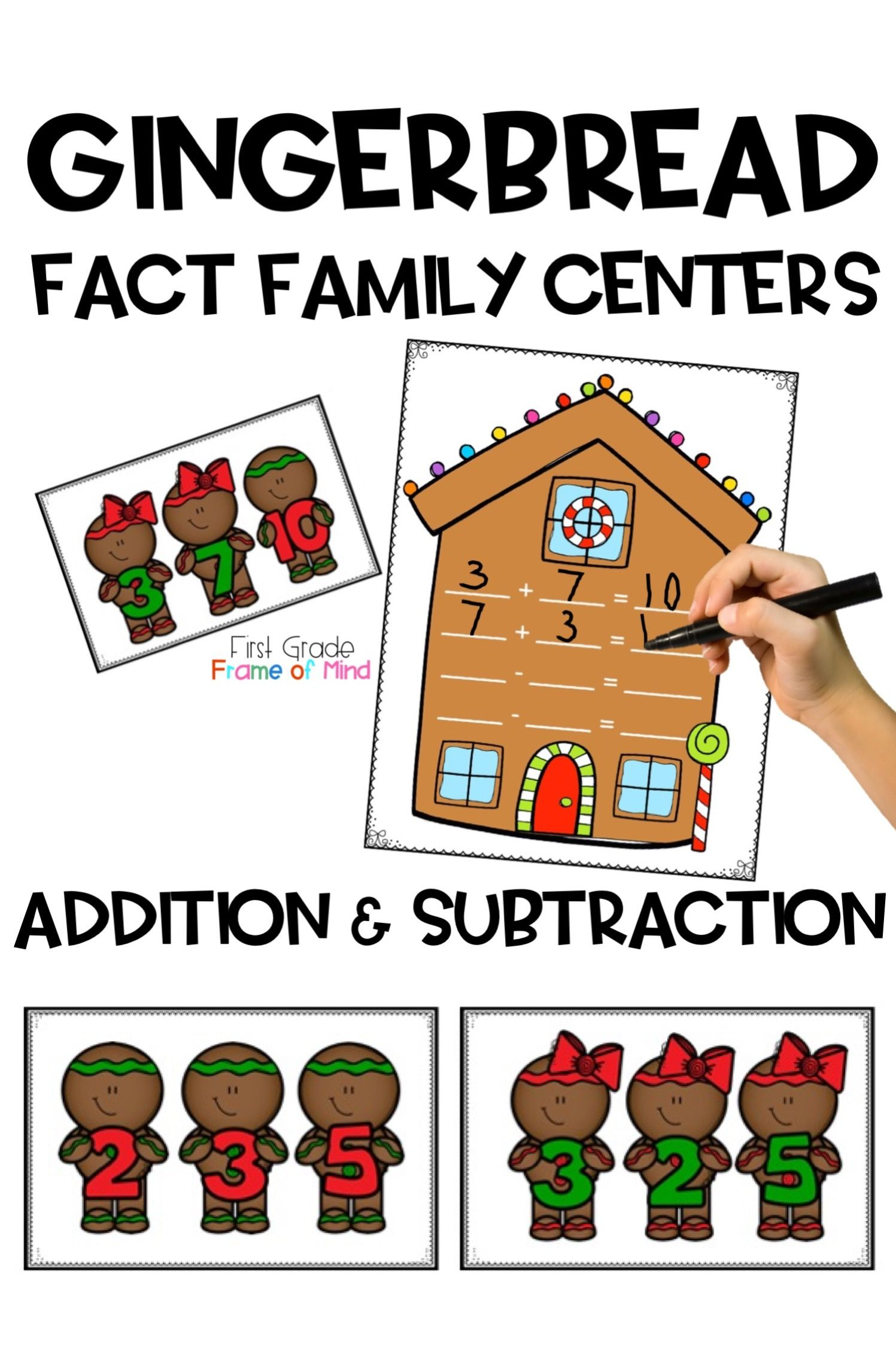 Fact Family Gingerbread Math Center