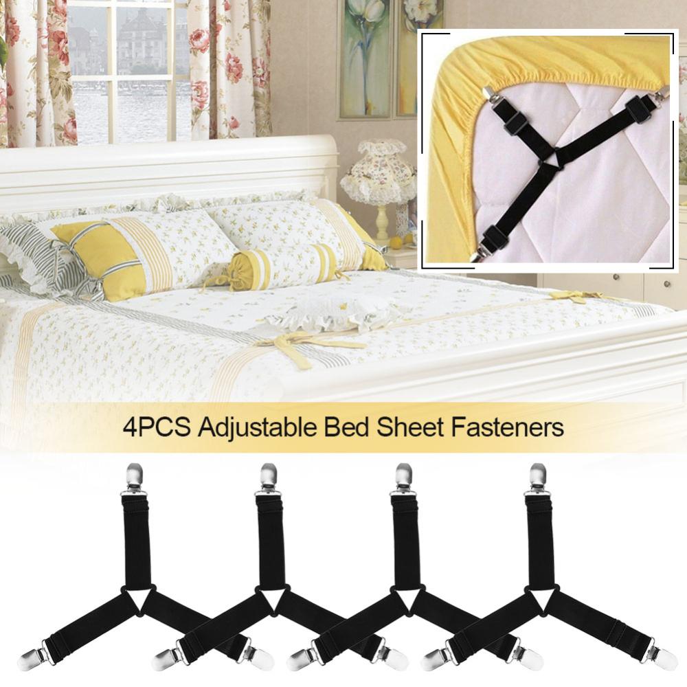 4pcs Adjustable Triangle Bed Mattress Sheet Holder Straps Clips Gripper Fasteners Sheet Strap Sheet Suspender Walmart Com In 2020 Bed Sheets Adjustable Beds Bed