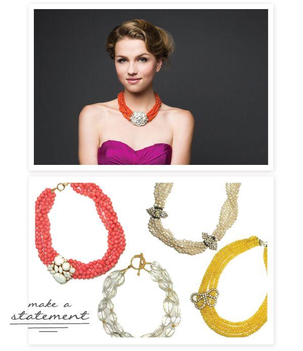 crazy for these statement necklaces by Margaret Elizabeth http://www.margaretelizabeth.com/
