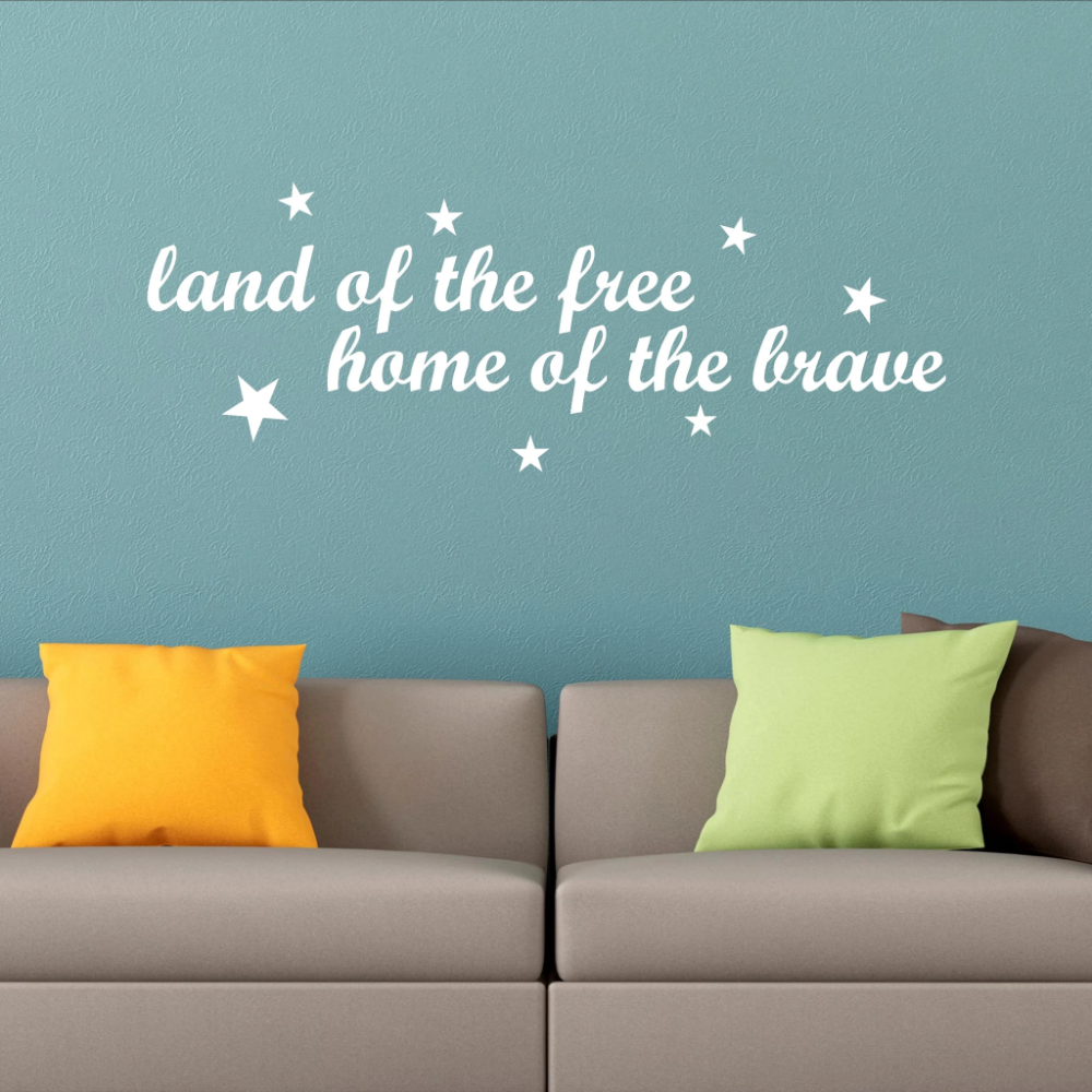 Land Of The Free Home Of The Brave Funwithprint Vinyl Wall Decals Wall Decals Home Of The Brave
