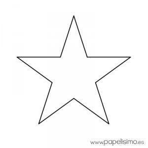 Estrella imprimir colorear y recortar 4 moldes figuras - Plantilla estrella navidad ...