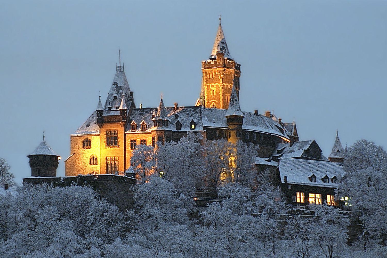 File Wernigerodecastlewinter Jpg Deutschland Burgen Wernigerode Schloss Wernigerode