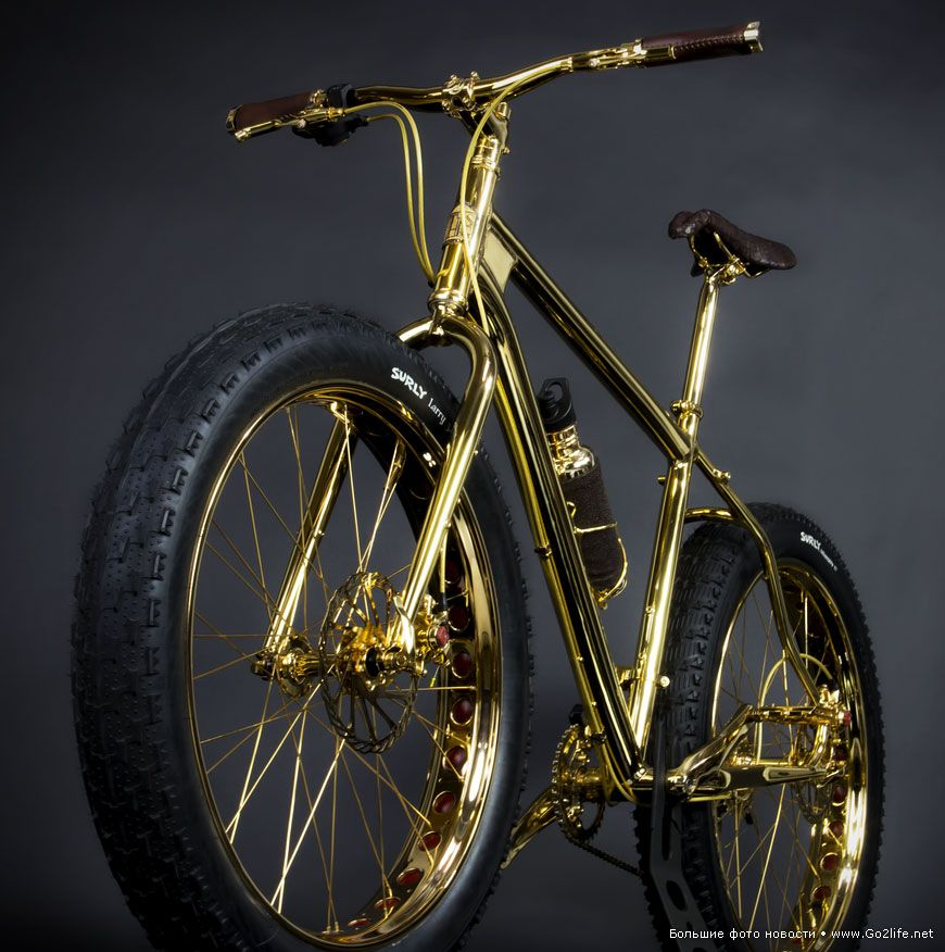 24k Gold Otdam Zolotoj Velosiped Iz Beverly Hills V Horoshie Ruki Extreme Mountain Biking Gold Bike