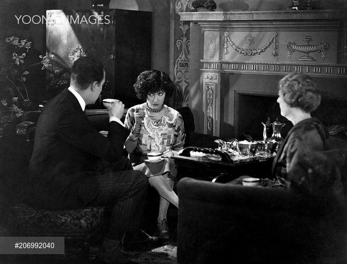 Eugene O'Brien, Gloria Swanson & Helen Dunbar on the set of Fine Manners, 1926, Richard Rosson & Lewis Milestone.