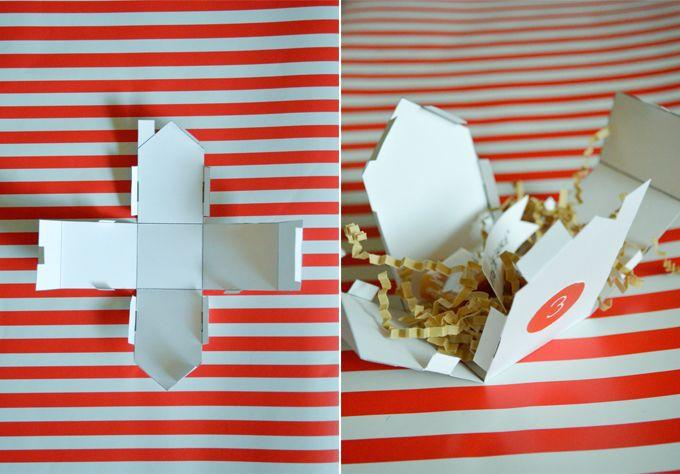 Swoon! Handmade Christmas Little Village Advent Calendar Cute