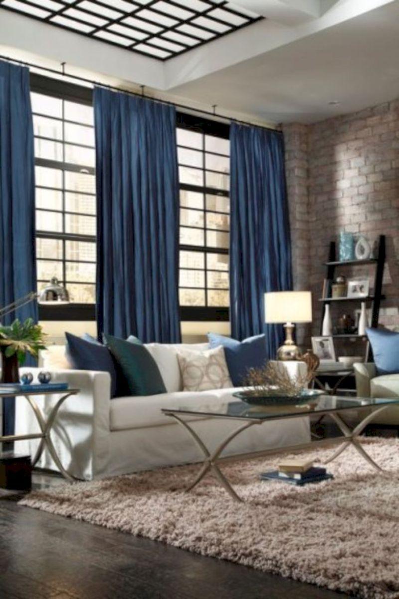 62 Rustic Living Room Curtains Design Ideas Blue Curtains Living