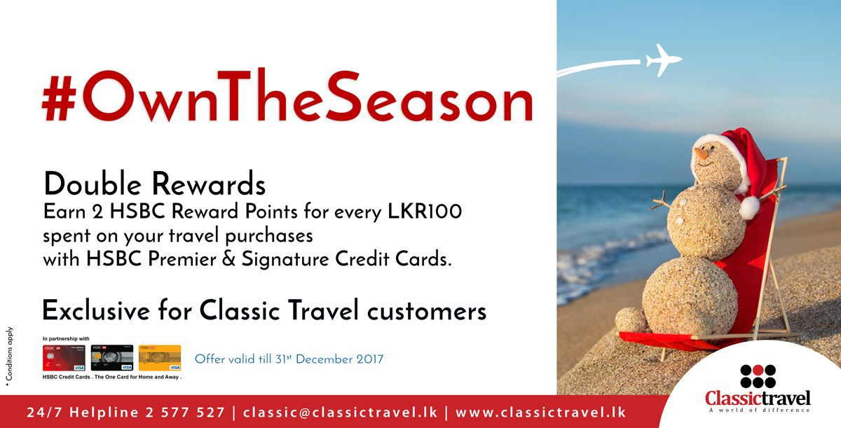 OwnTheSeason Double Rewards Earn 2 HSBC Reward Points for