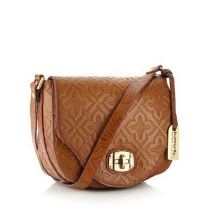 174c0d1f38 Butterfly by Matthew Williamson Designer tan embossed leather cross body bag-  at Debenhams Mobile