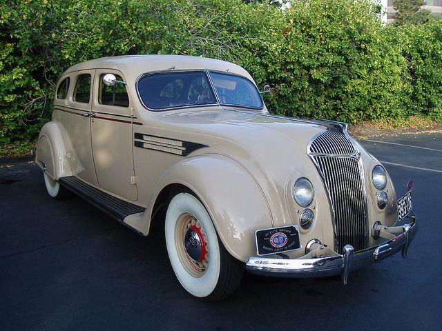 1936 Chrysler Airflow Sedan At Airflow Club Meet San Jose Ca