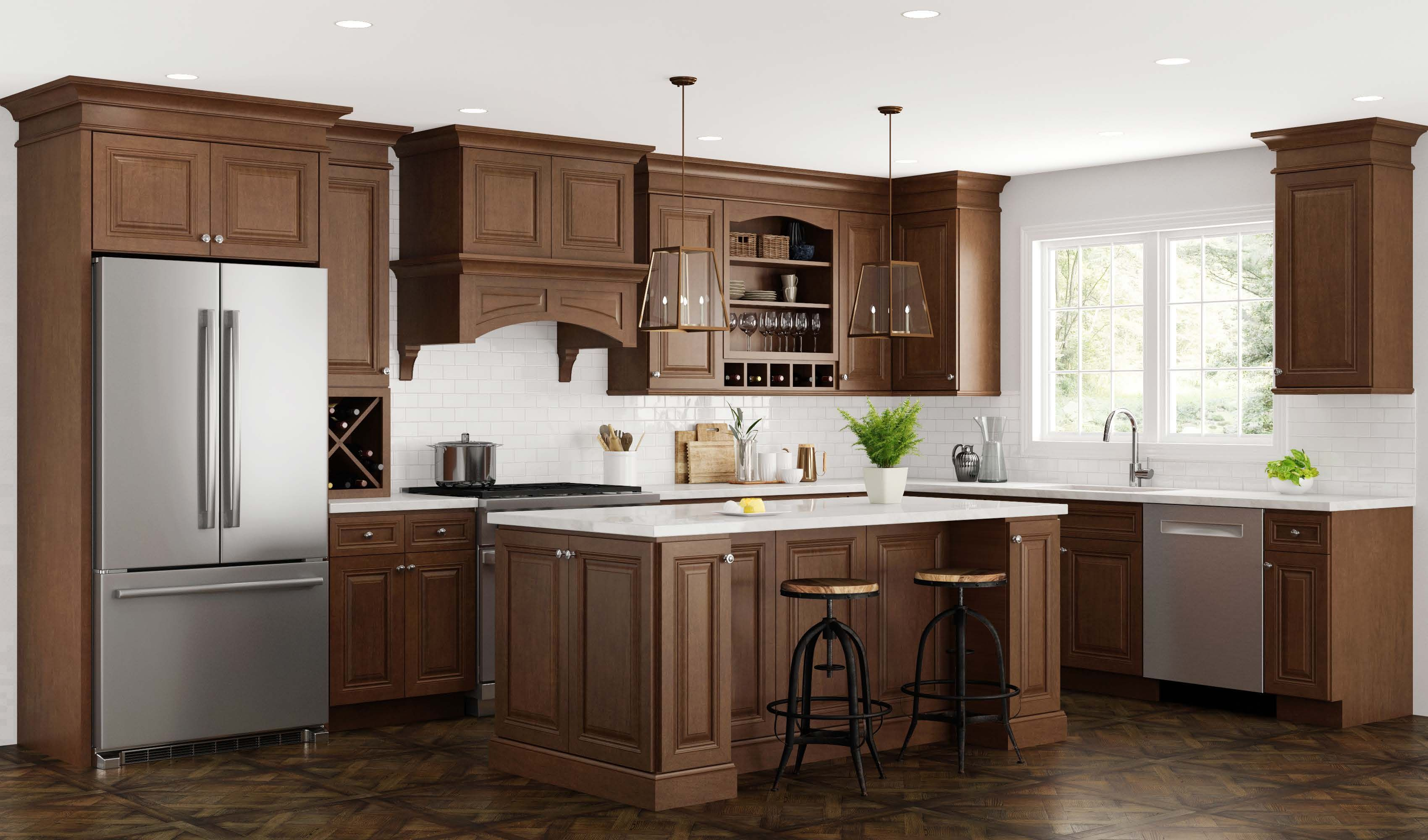 Introducing The New Cinnamon Stain For 2018 Cinnamon Stain Provides Depth And War Buy Kitchen Cabinets Online Brown Kitchen Cabinets Online Kitchen Cabinets