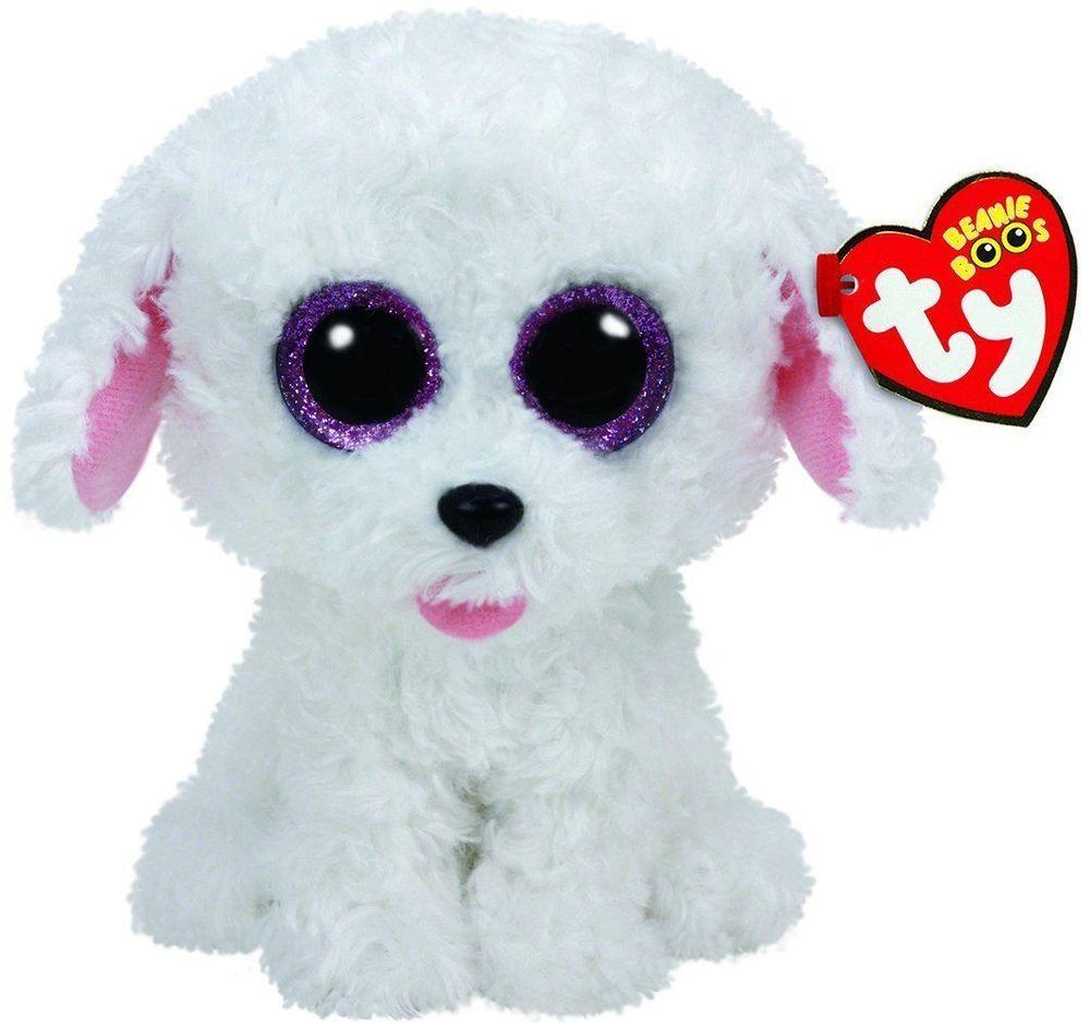Pippi White Dog Beanie Boo Small Stuffed Animal By Ty 37175 Dog Beanie Beanie Boos Ty Beanie Boos