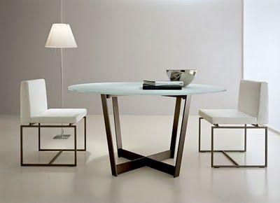 Mesas de comedor de vidrio con bases muy originales : Decorando ...